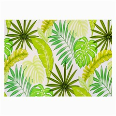 Amazon Forest Natural Green Yellow Leaf Large Glasses Cloth