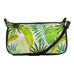 Amazon Forest Natural Green Yellow Leaf Shoulder Clutch Bags