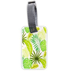 Amazon Forest Natural Green Yellow Leaf Luggage Tags (two Sides)