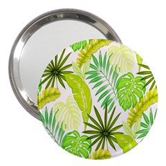 Amazon Forest Natural Green Yellow Leaf 3  Handbag Mirrors by Mariart