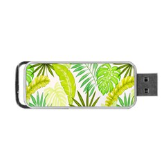 Amazon Forest Natural Green Yellow Leaf Portable Usb Flash (one Side)