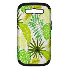 Amazon Forest Natural Green Yellow Leaf Samsung Galaxy S Iii Hardshell Case (pc+silicone)