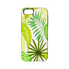 Amazon Forest Natural Green Yellow Leaf Apple Iphone 5 Classic Hardshell Case (pc+silicone) by Mariart
