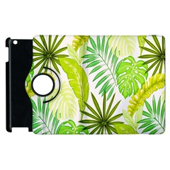 Amazon Forest Natural Green Yellow Leaf Apple Ipad 3/4 Flip 360 Case by Mariart