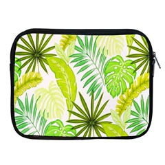 Amazon Forest Natural Green Yellow Leaf Apple Ipad 2/3/4 Zipper Cases by Mariart
