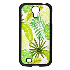Amazon Forest Natural Green Yellow Leaf Samsung Galaxy S4 I9500/ I9505 Case (black) by Mariart