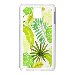 Amazon Forest Natural Green Yellow Leaf Samsung Galaxy Note 3 N9005 Case (white)