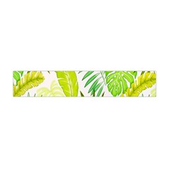 Amazon Forest Natural Green Yellow Leaf Flano Scarf (mini) by Mariart