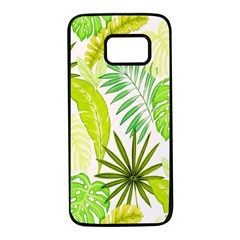 Amazon Forest Natural Green Yellow Leaf Samsung Galaxy S7 Black Seamless Case by Mariart