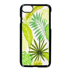Amazon Forest Natural Green Yellow Leaf Apple Iphone 7 Seamless Case (black) by Mariart