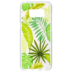 Amazon Forest Natural Green Yellow Leaf Samsung Galaxy S8 White Seamless Case by Mariart