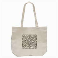 Black Psychedelic Pattern Tote Bag (cream) by Mariart