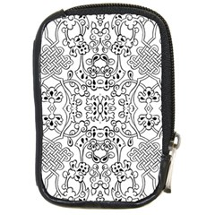 Black Psychedelic Pattern Compact Camera Cases by Mariart