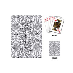 Black Psychedelic Pattern Playing Cards (mini)  by Mariart