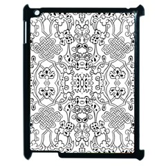 Black Psychedelic Pattern Apple Ipad 2 Case (black) by Mariart