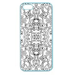 Black Psychedelic Pattern Apple Seamless Iphone 5 Case (color)