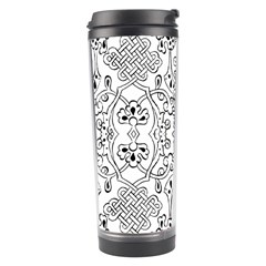 Black Psychedelic Pattern Travel Tumbler by Mariart
