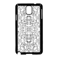 Black Psychedelic Pattern Samsung Galaxy Note 3 Neo Hardshell Case (black)