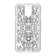 Black Psychedelic Pattern Samsung Galaxy S5 Case (white)