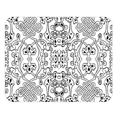 Black Psychedelic Pattern Double Sided Flano Blanket (large)  by Mariart