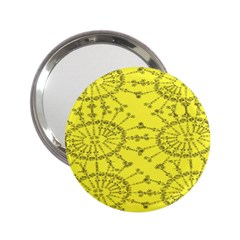 Yellow Flower Floral Circle Sexy 2 25  Handbag Mirrors by Mariart