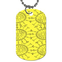 Yellow Flower Floral Circle Sexy Dog Tag (one Side) by Mariart