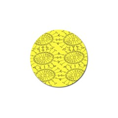 Yellow Flower Floral Circle Sexy Golf Ball Marker (10 Pack)