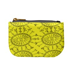 Yellow Flower Floral Circle Sexy Mini Coin Purses by Mariart