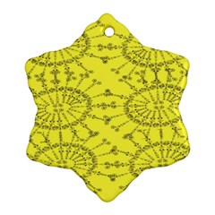 Yellow Flower Floral Circle Sexy Ornament (snowflake)