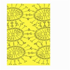Yellow Flower Floral Circle Sexy Large Garden Flag (two Sides) by Mariart