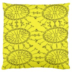 Yellow Flower Floral Circle Sexy Large Cushion Case (two Sides) by Mariart