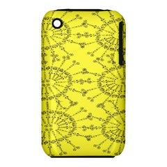 Yellow Flower Floral Circle Sexy Iphone 3s/3gs by Mariart