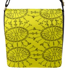 Yellow Flower Floral Circle Sexy Flap Messenger Bag (s) by Mariart