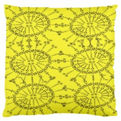 Yellow Flower Floral Circle Sexy Large Flano Cushion Case (two Sides)