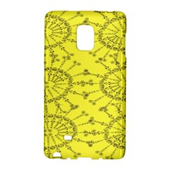 Yellow Flower Floral Circle Sexy Galaxy Note Edge by Mariart