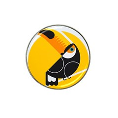 Cute Toucan Bird Cartoon Yellow Black Hat Clip Ball Marker (10 Pack) by Mariart