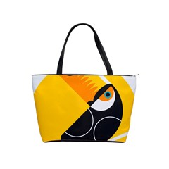Cute Toucan Bird Cartoon Yellow Black Shoulder Handbags by Mariart