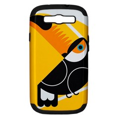 Cute Toucan Bird Cartoon Yellow Black Samsung Galaxy S Iii Hardshell Case (pc+silicone) by Mariart