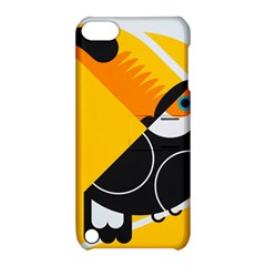Cute Toucan Bird Cartoon Yellow Black Apple Ipod Touch 5 Hardshell Case With Stand by Mariart