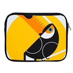 Cute Toucan Bird Cartoon Yellow Black Apple Ipad 2/3/4 Zipper Cases by Mariart