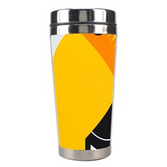 Cute Toucan Bird Cartoon Yellow Black Stainless Steel Travel Tumblers by Mariart