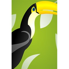 Cute Toucan Bird Cartoon Fly Yellow Green Black Animals 5 5  X 8 5  Notebooks by Mariart
