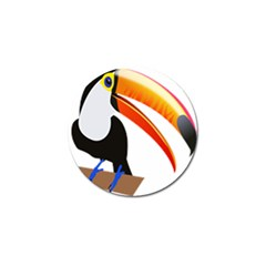 Cute Toucan Bird Cartoon Fly Golf Ball Marker by Mariart