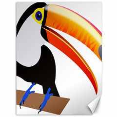 Cute Toucan Bird Cartoon Fly Canvas 36  X 48   by Mariart