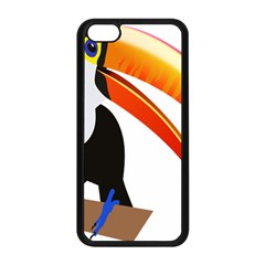 Cute Toucan Bird Cartoon Fly Apple Iphone 5c Seamless Case (black) by Mariart
