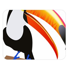 Cute Toucan Bird Cartoon Fly Double Sided Flano Blanket (large)  by Mariart