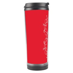 Cycles Bike White Red Sport Travel Tumbler by Mariart