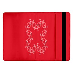 Cycles Bike White Red Sport Samsung Galaxy Tab Pro 12 2  Flip Case by Mariart