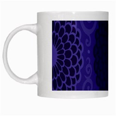Flower Floral Sunflower Blue Purple Leaf Wave Chevron Beauty Sexy White Mugs by Mariart