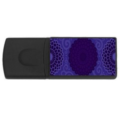 Flower Floral Sunflower Blue Purple Leaf Wave Chevron Beauty Sexy Rectangular Usb Flash Drive by Mariart